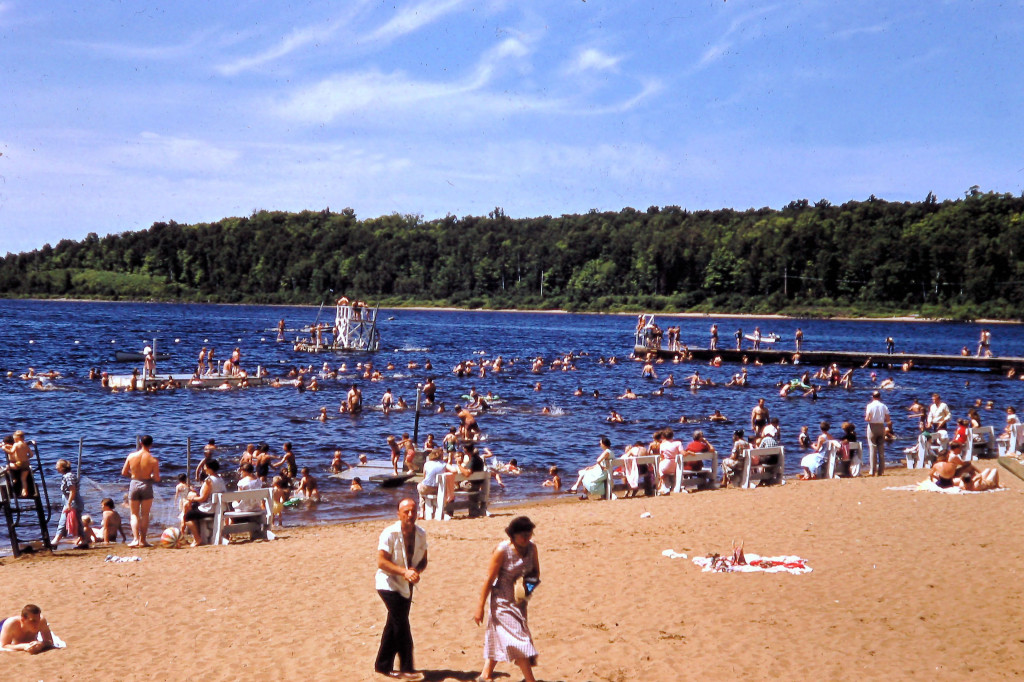 Swimmers at Champion Beach